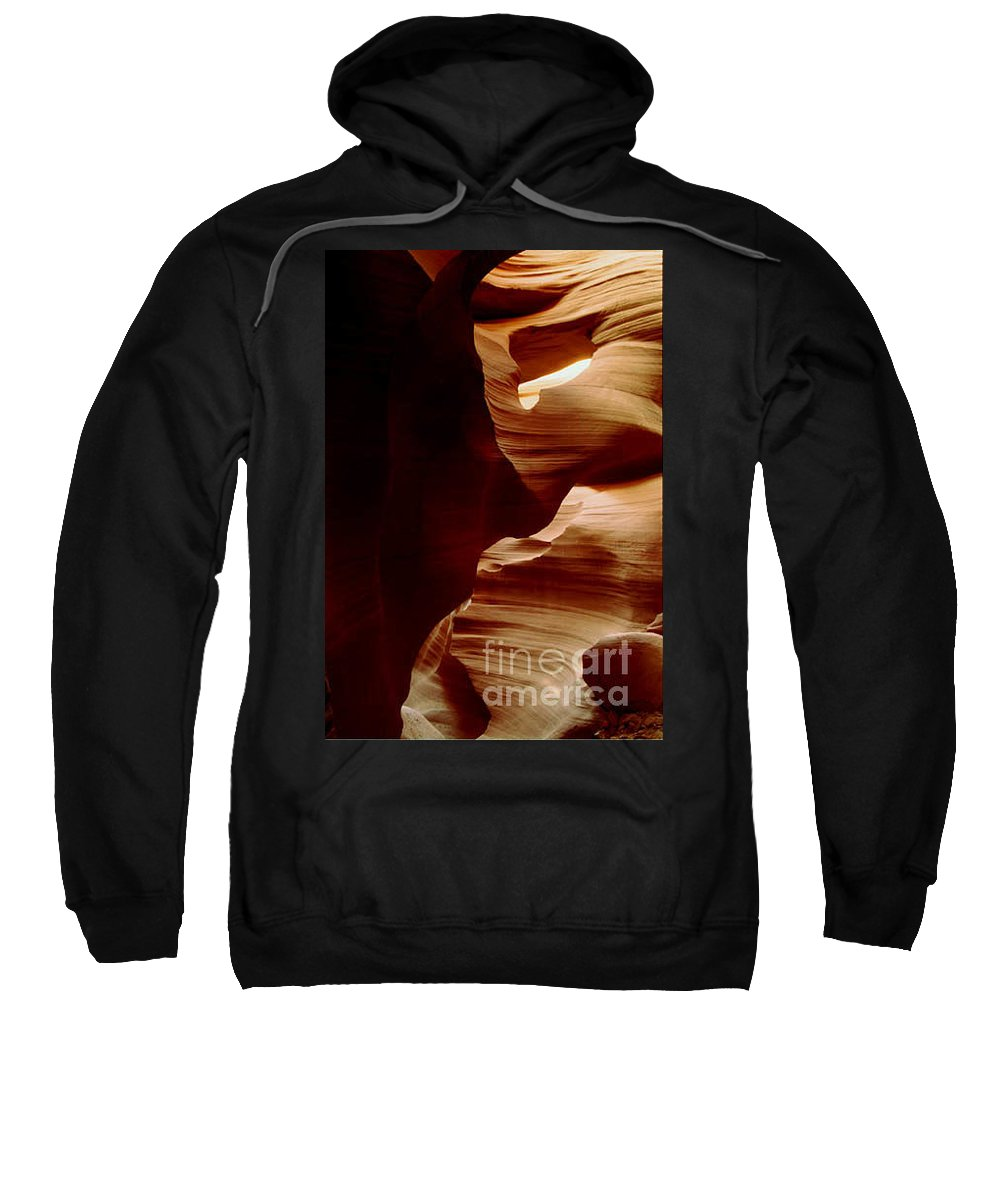 Landscape Sweatshirt featuring the photograph The Heart of Antelope Canyon by Kathy McClure