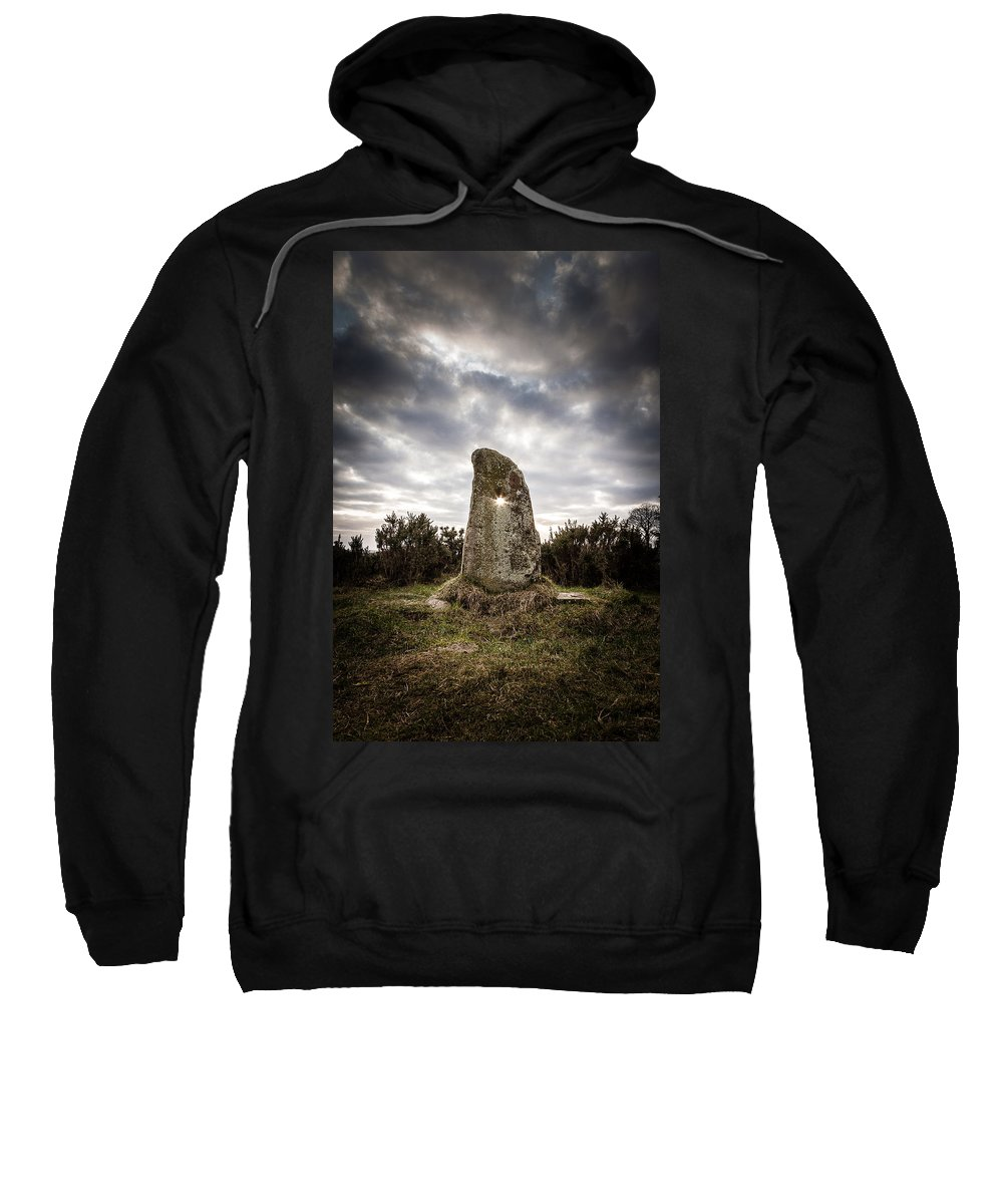 Landscapes Sweatshirt featuring the photograph The Holestone by George Pennock