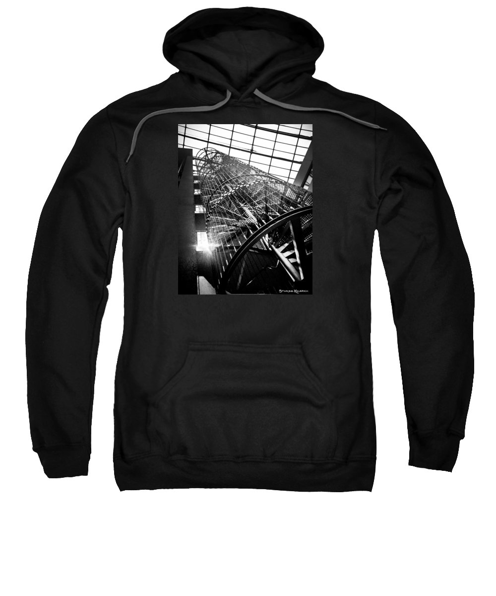 Architecture Sweatshirt featuring the photograph The Iron Hell Stairs by Stwayne Keubrick