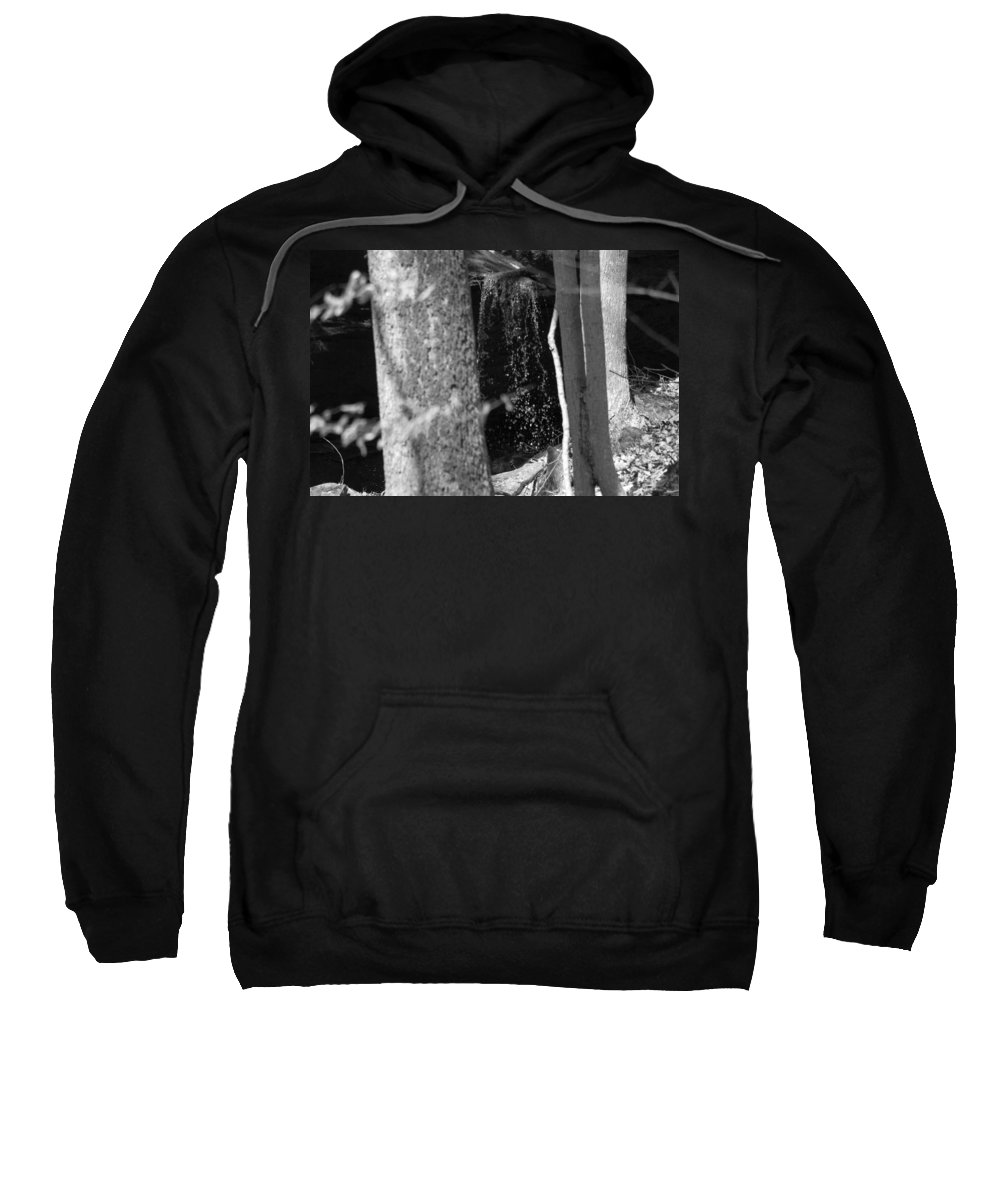 Water Sweatshirt featuring the photograph The Journey Begins B W by Howard Tenke