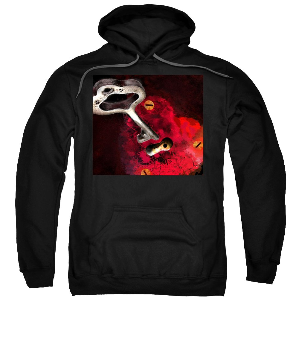 Love Sweatshirt featuring the painting The Key To My Heart by Miki De Goodaboom