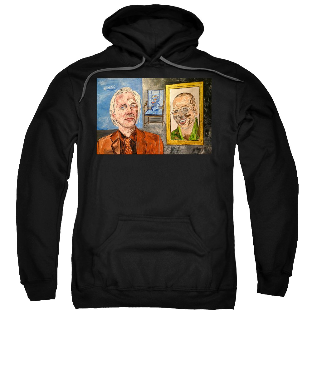 Truth Sweatshirt featuring the painting The Mirrored Truth by Valerie Ornstein