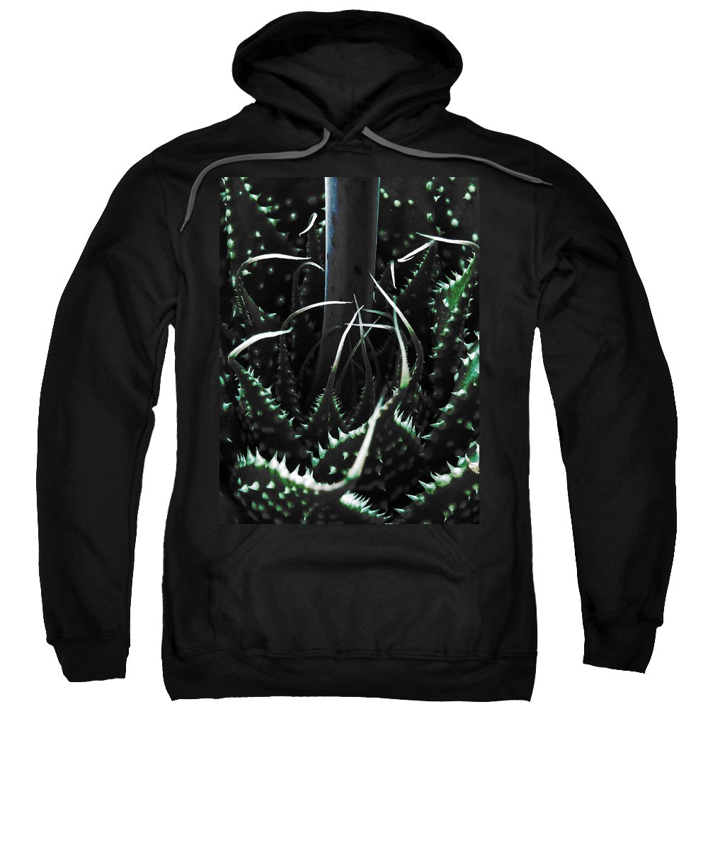Succulent Sweatshirt featuring the photograph The Monster Is Impaled by Steve Taylor