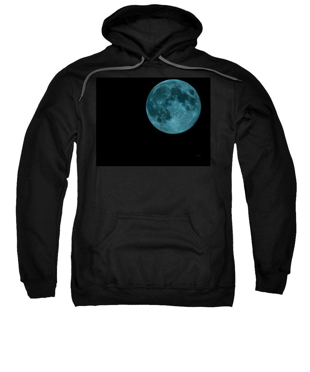 Sky Sweatshirt featuring the photograph The Official Blue Moon Of 2013-august 20-21 by Eti Reid
