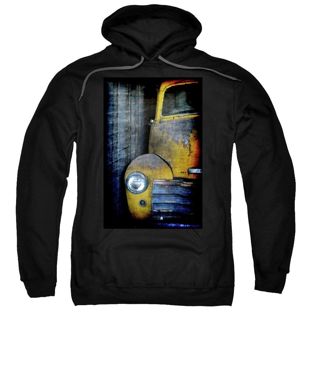 Truck Sweatshirt featuring the digital art The Ol Chevy by Ernie Echols