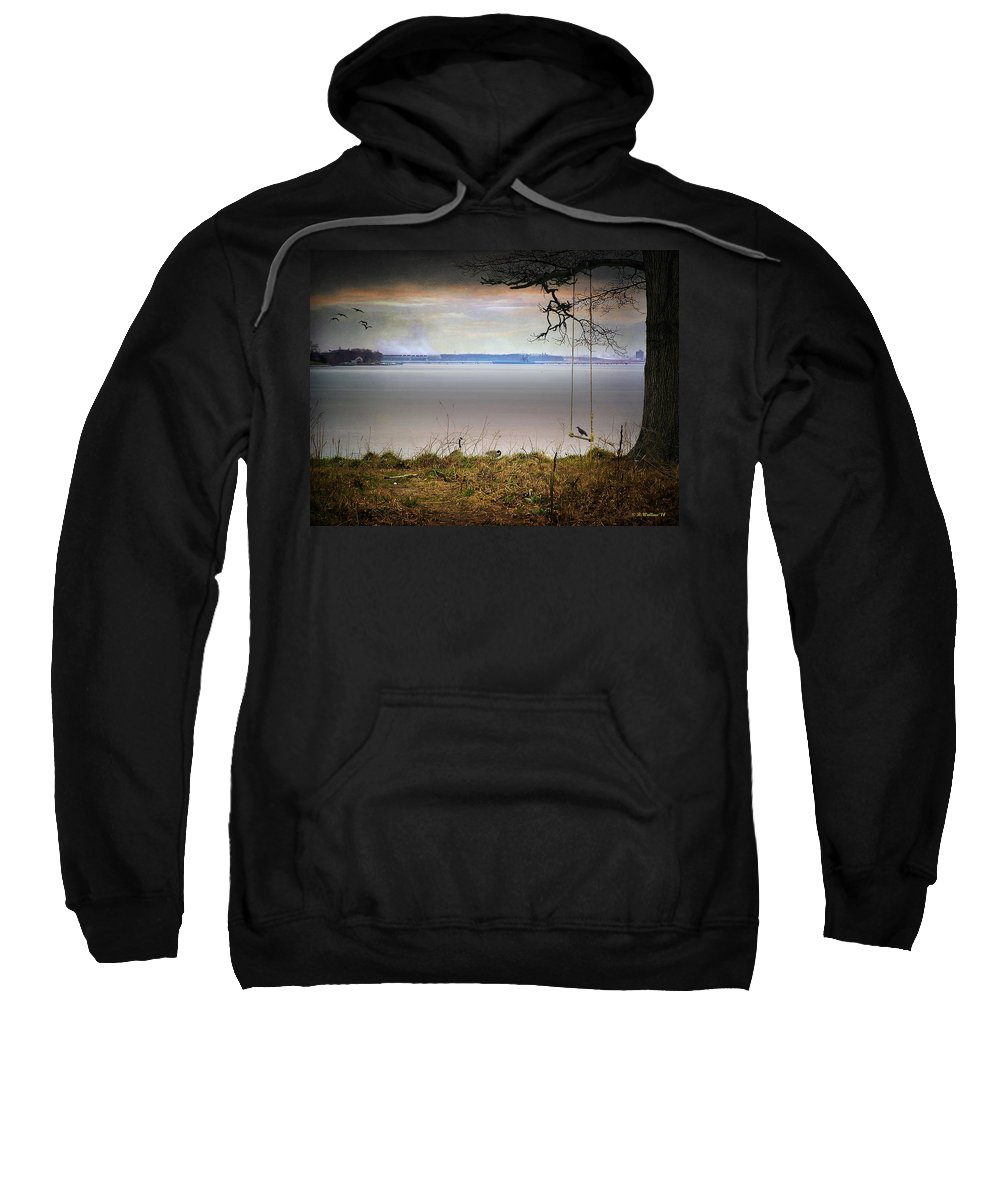 2d Sweatshirt featuring the photograph The Old Swing by Brian Wallace