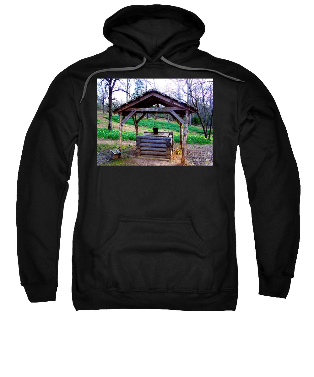 Rustic Well Sweatshirt featuring the photograph The Old Water Well by Kathy White