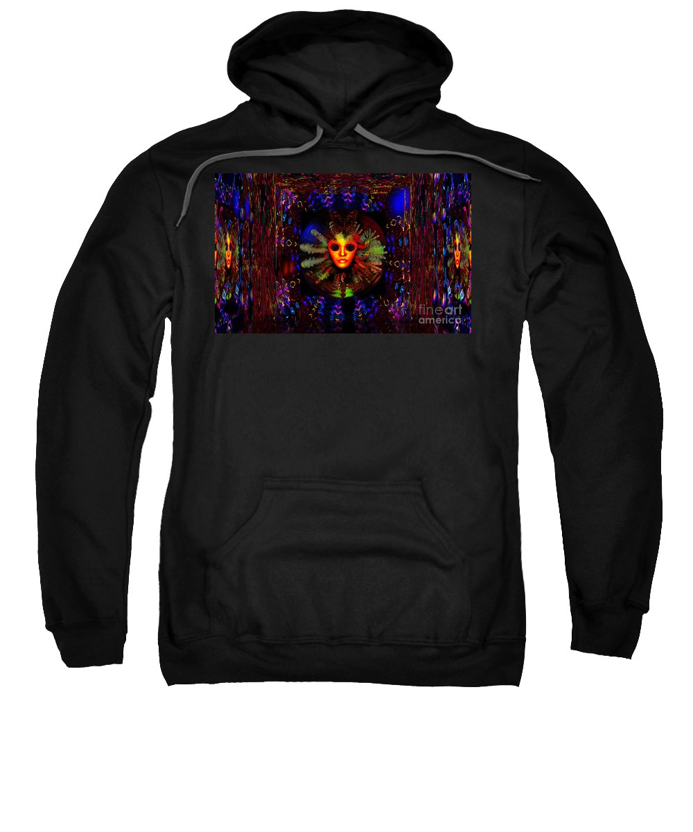 Outer Limits Sweatshirt featuring the digital art The Outer Limits by Joseph Mosley
