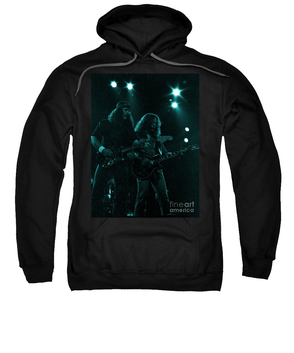 The Outlaws Sweatshirt featuring the photograph The Outlaws - Hughie Thomasson And Billy Jones-1st Release Special Price by Daniel Larsen
