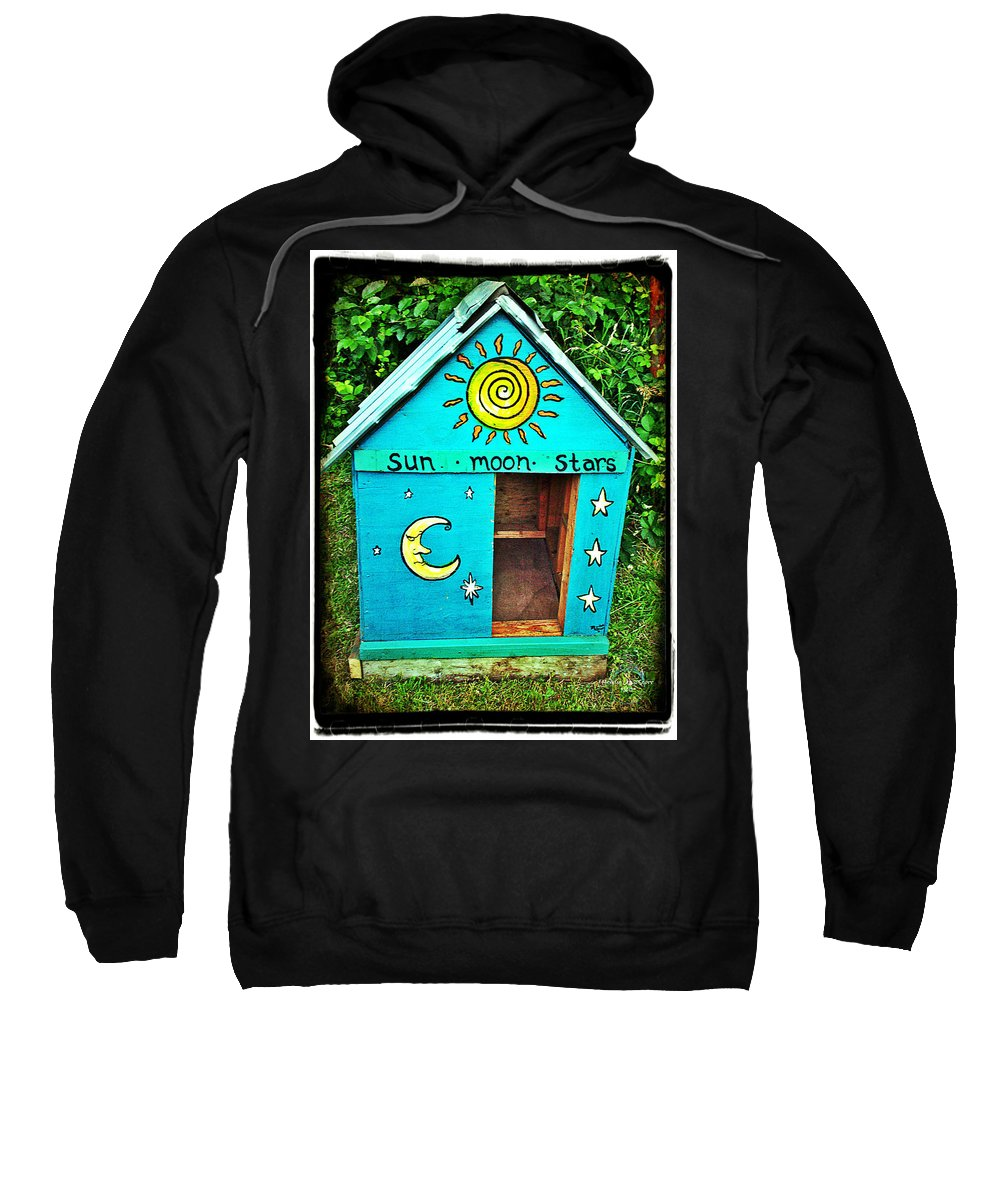 Dog House Sweatshirt featuring the photograph The Painted Dog House by Absinthe Art By Michelle LeAnn Scott