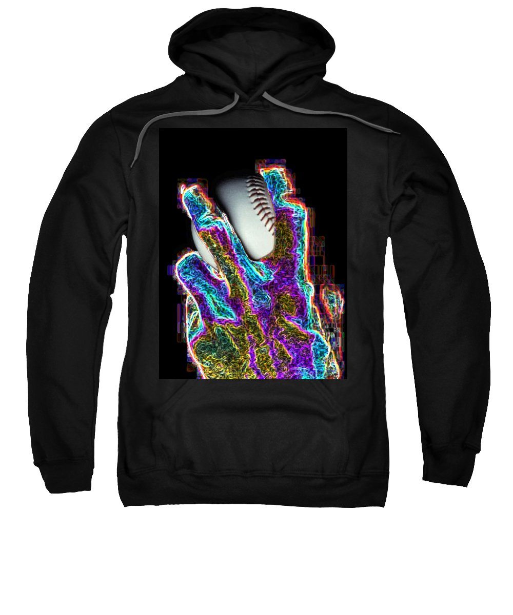 Baseball Sweatshirt featuring the photograph The Pitch by Tim Allen