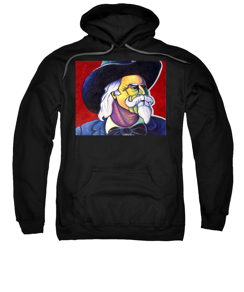 Western Hero Sweatshirt featuring the painting The Plainsmen - Buffalo Bill Cody by Joe Triano