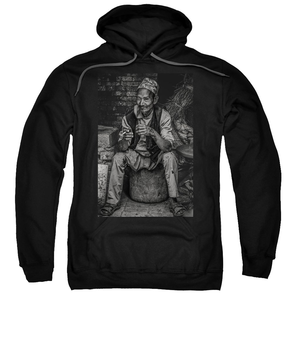 People Sweatshirt featuring the photograph The Potter by Valerie Rosen