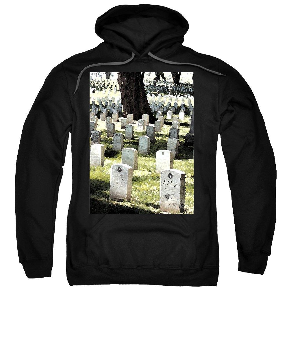 Tomb Stones Sweatshirt featuring the photograph The Presidio by Flamingo Graphix John Ellis
