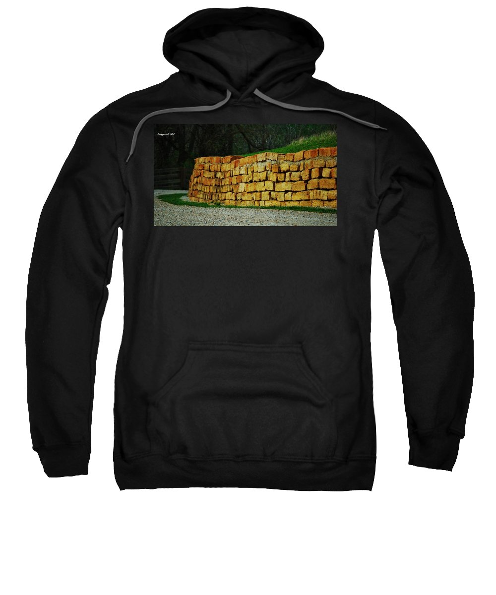 Rock Sweatshirt featuring the photograph The Rock Wall by Scott Polley