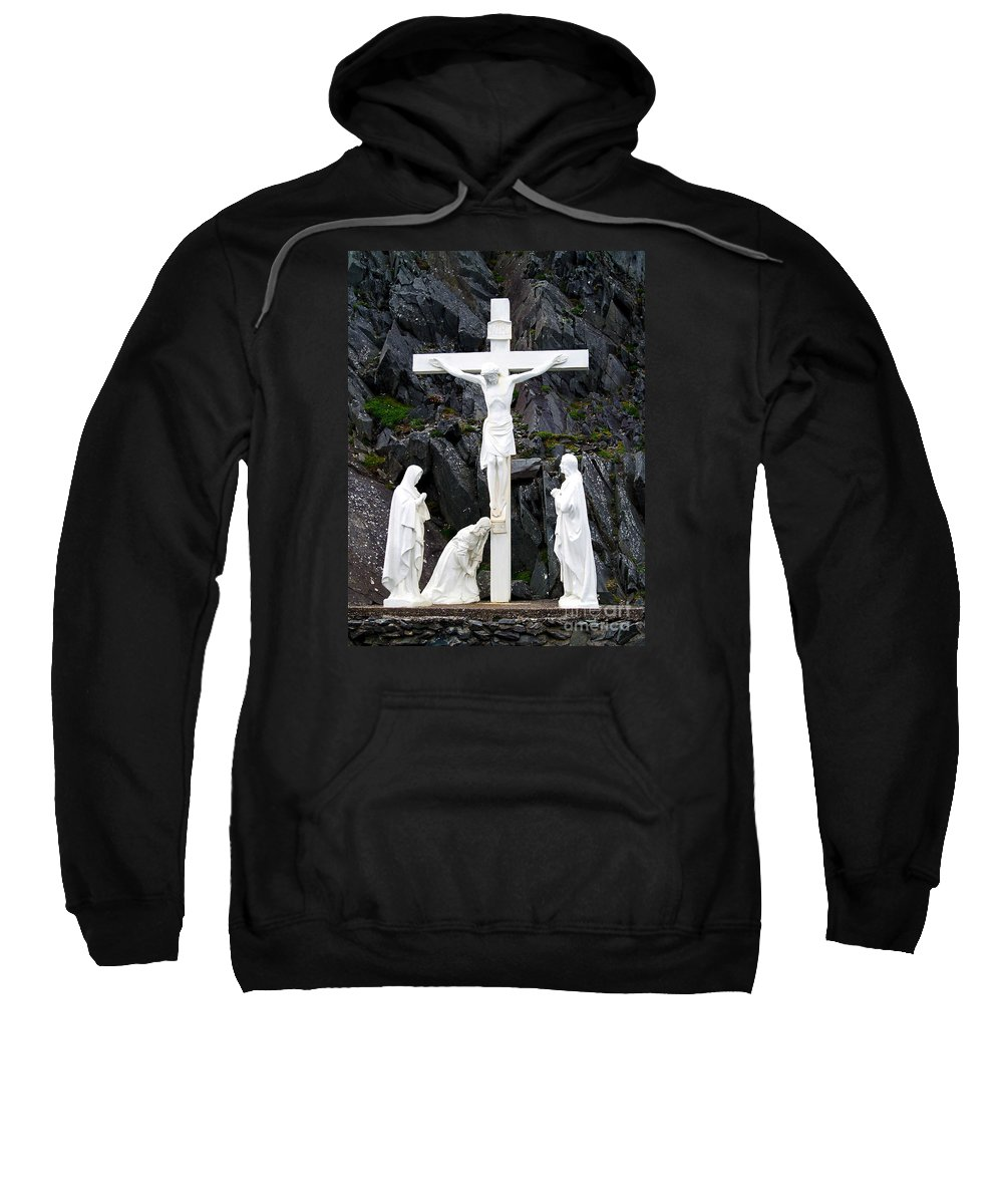Fine Art Photography Sweatshirt featuring the photograph The Savior by Patricia Griffin Brett