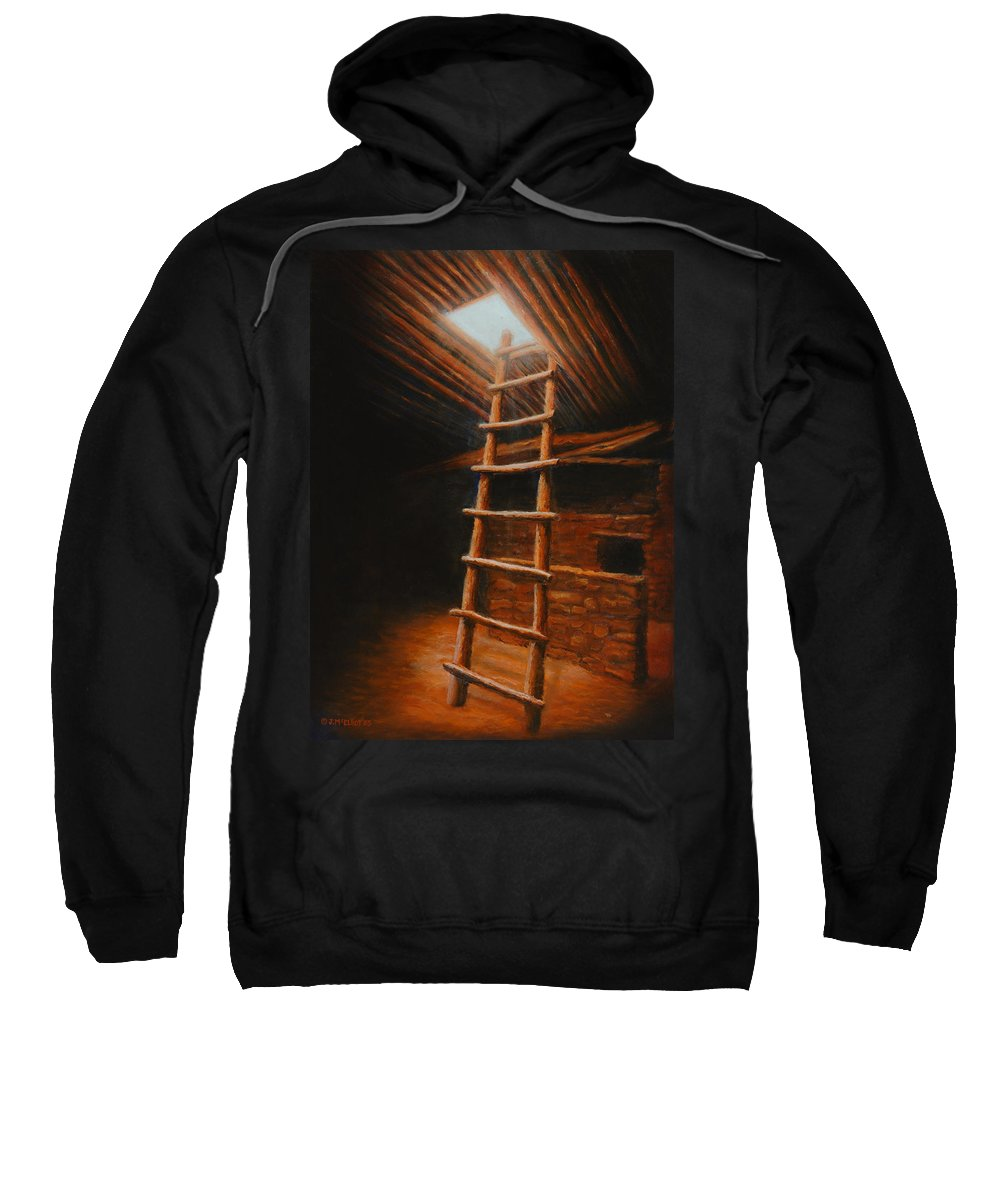Kiva Sweatshirt featuring the painting The Second World by Jerry McElroy