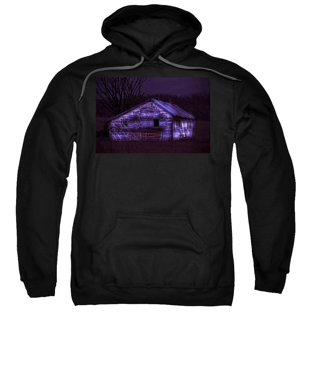 Shed Sweatshirt featuring the photograph The Shed by Bonfire Photography