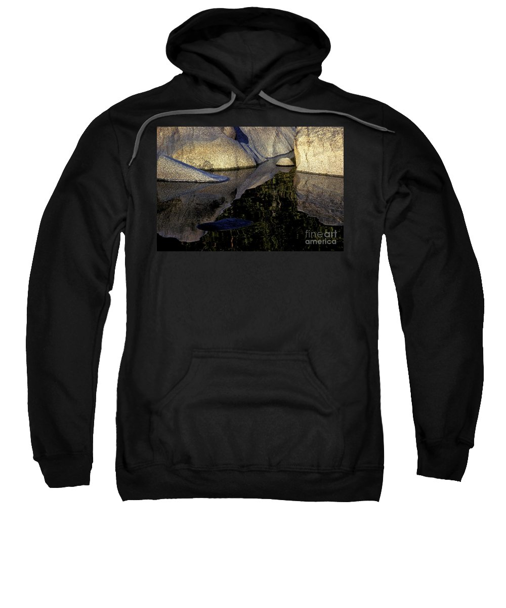 Water Sweatshirt featuring the photograph The Soft Overcomes The Hard by Paul W Faust - Impressions of Light