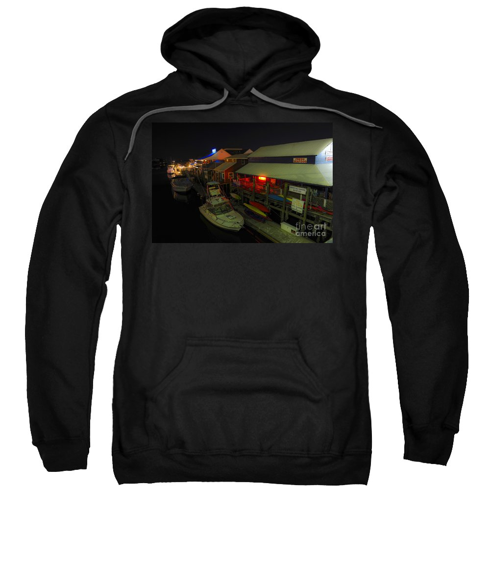 Shem Creek Sweatshirt featuring the photograph The Solace Of Night by Dale Powell