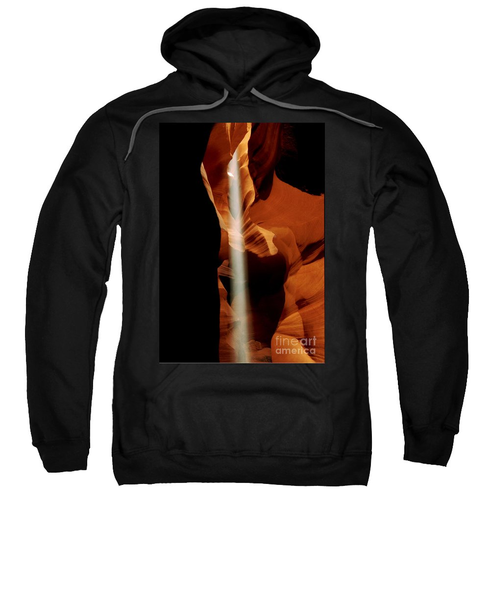 Antelope Canyon Sweatshirt featuring the photograph The Source by Kathy McClure