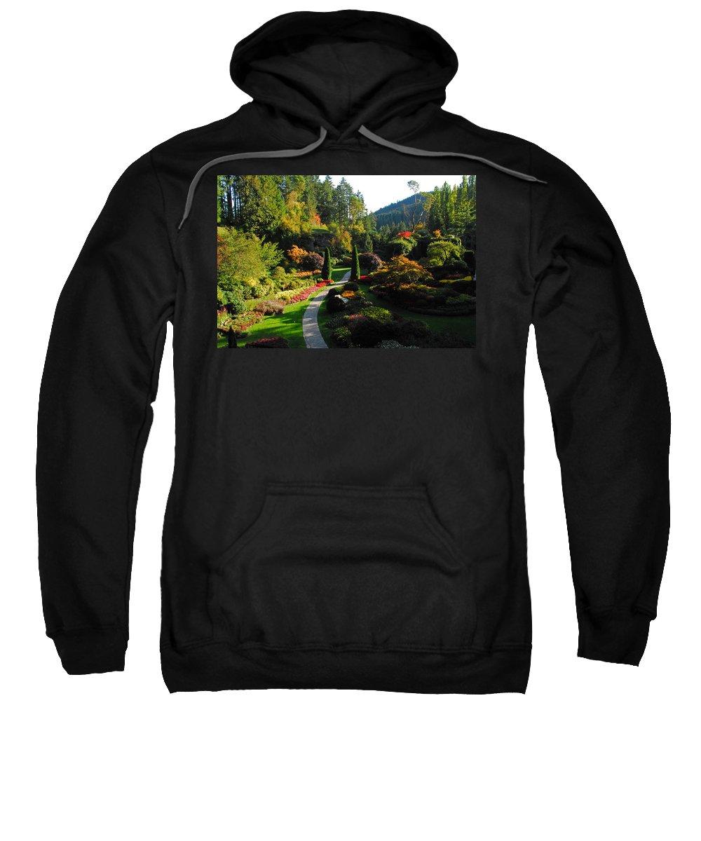 Gardens Sweatshirt featuring the photograph The Sunken Garden by Lynn Bauer