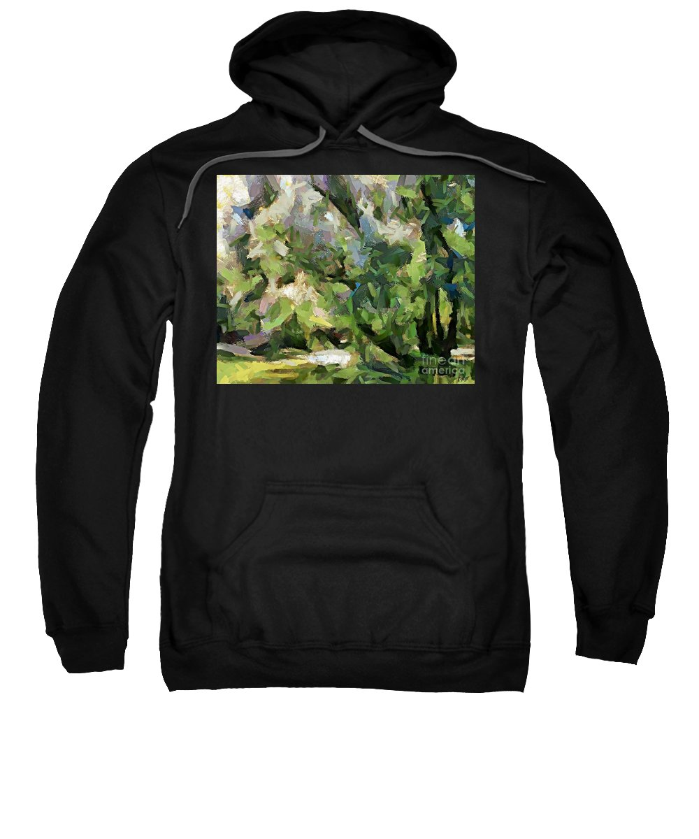 Season Sweatshirt featuring the painting The Swamp - Wetlands by Dragica Micki Fortuna