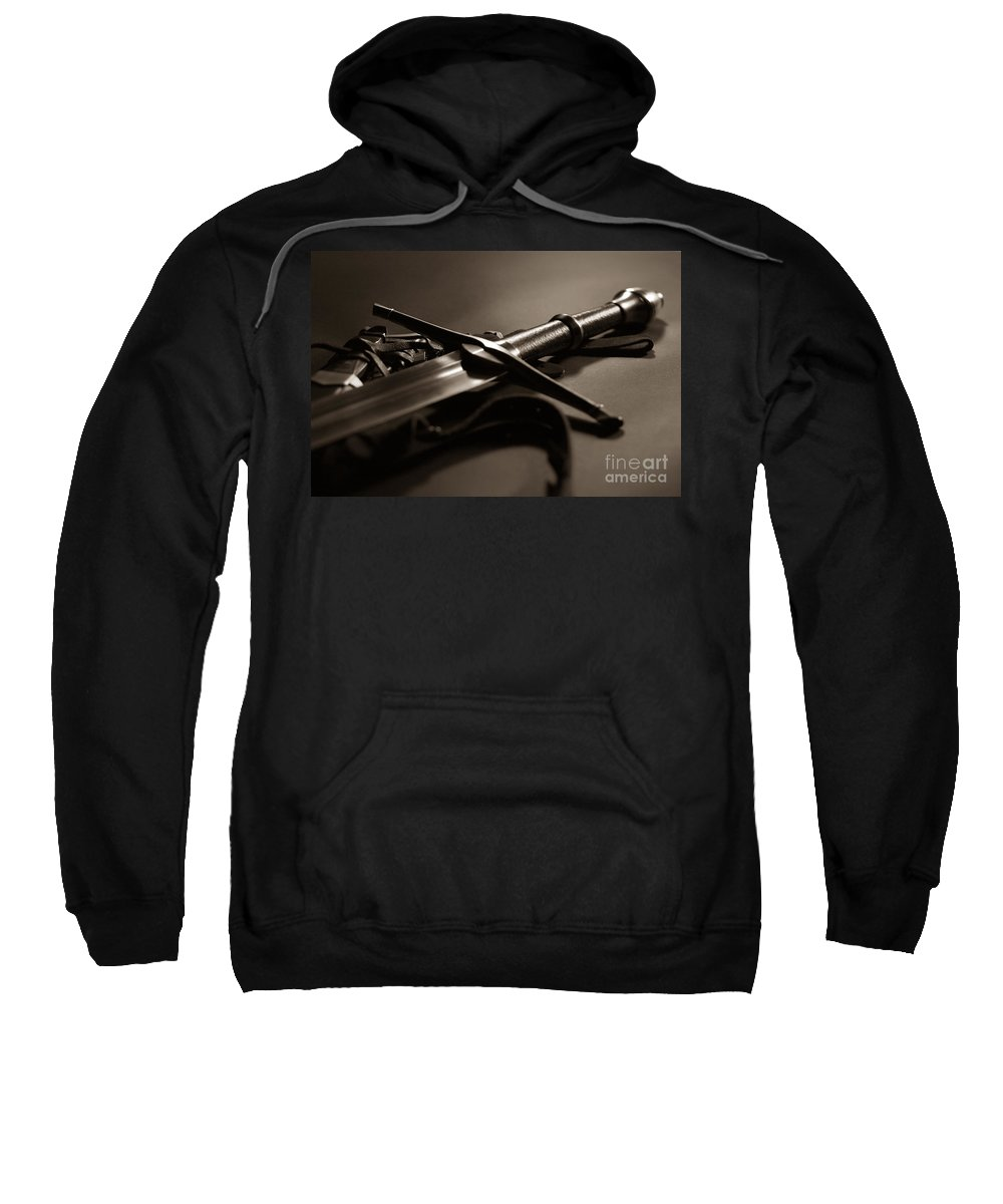 Sword Sweatshirt featuring the photograph The Sword Of Aragorn 2 by Micah May