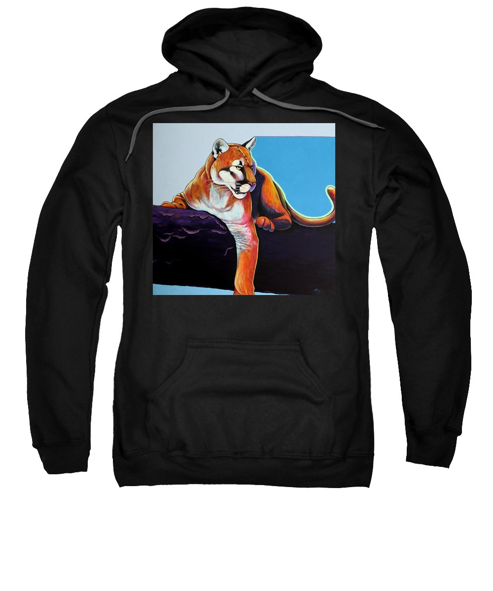 Wildlife Sweatshirt featuring the painting The Toll Collector by Joe Triano