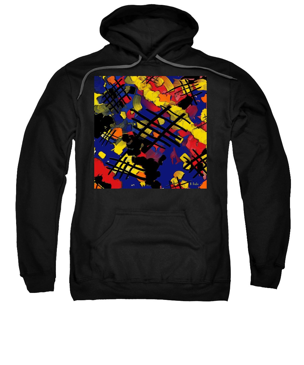 Torn Sweatshirt featuring the digital art The Torn Fabric Of Life by Alec Drake