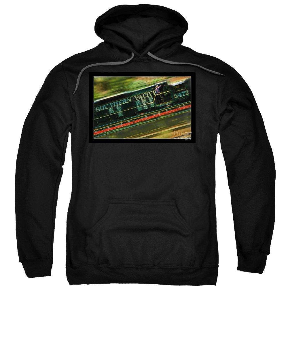 Train Sweatshirt featuring the photograph The Train Ride by Blake Richards