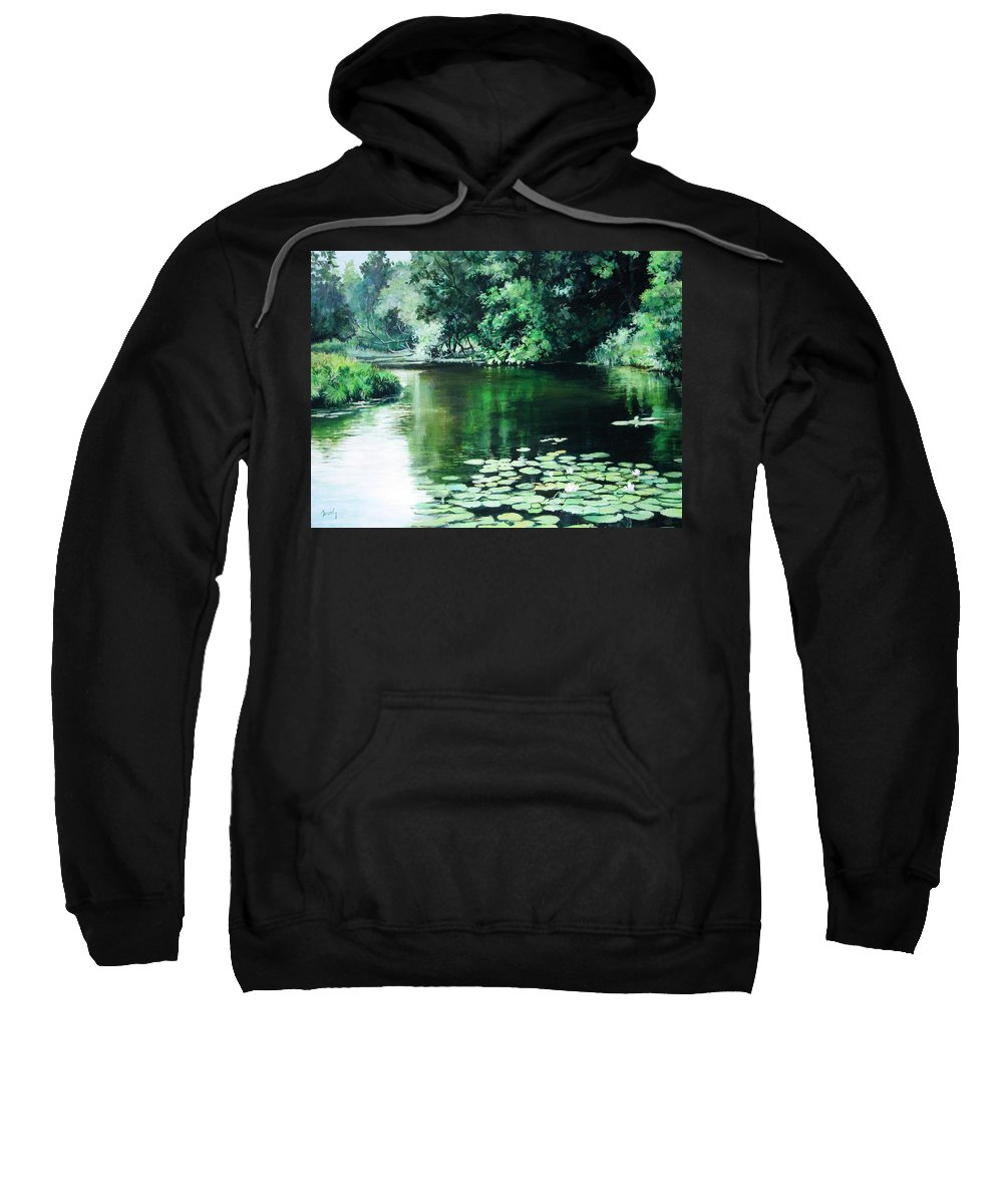 Landscape Sweatshirt featuring the painting Their Spot by William Brody