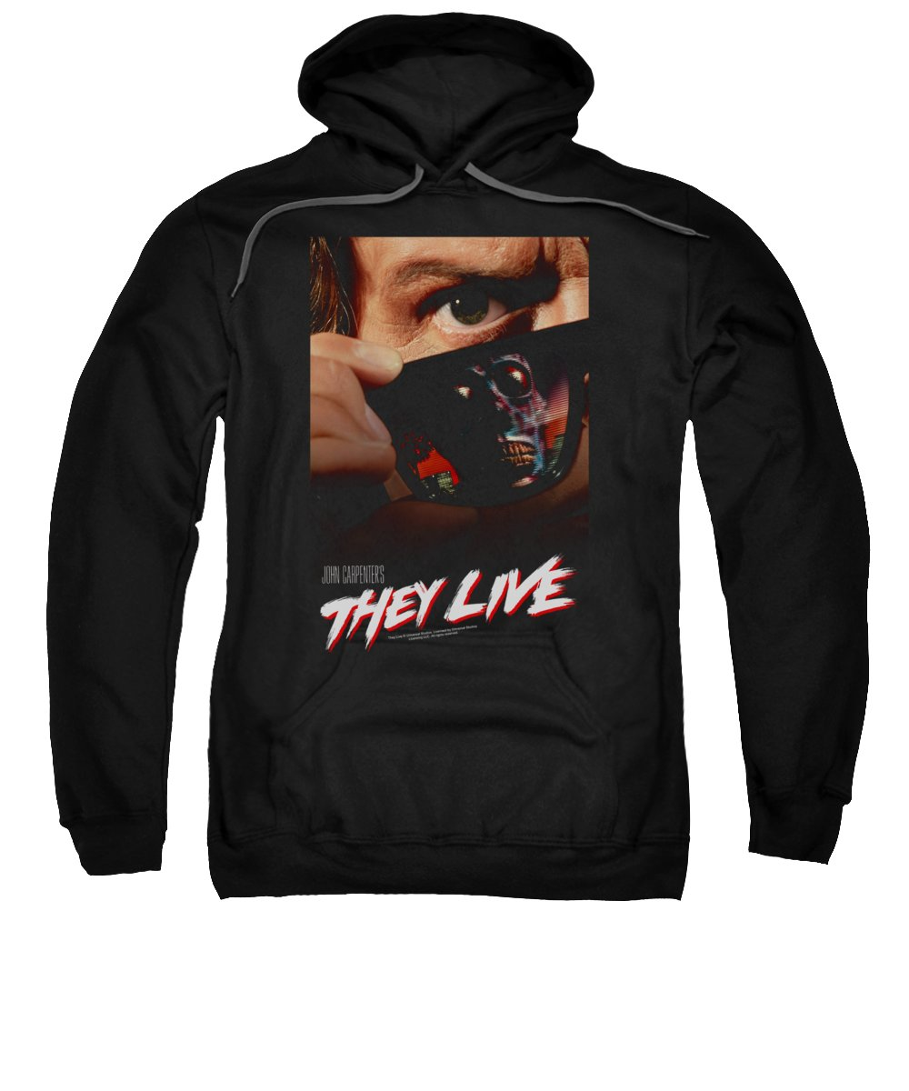 They Live Sweatshirt featuring the digital art They Live - Poster by Brand A