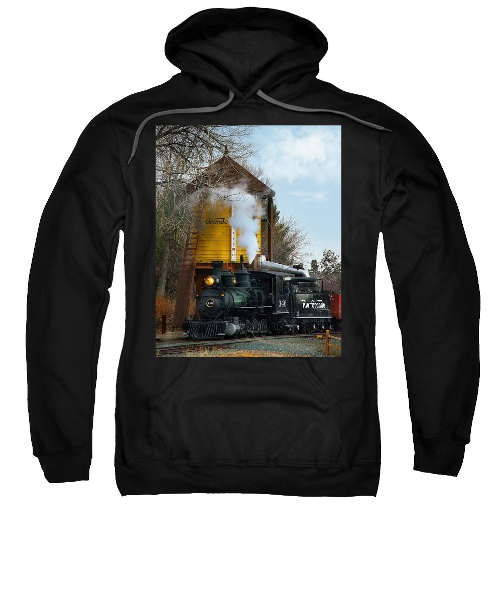 Steam Train Sweatshirt featuring the photograph Thirsty by Ken Smith