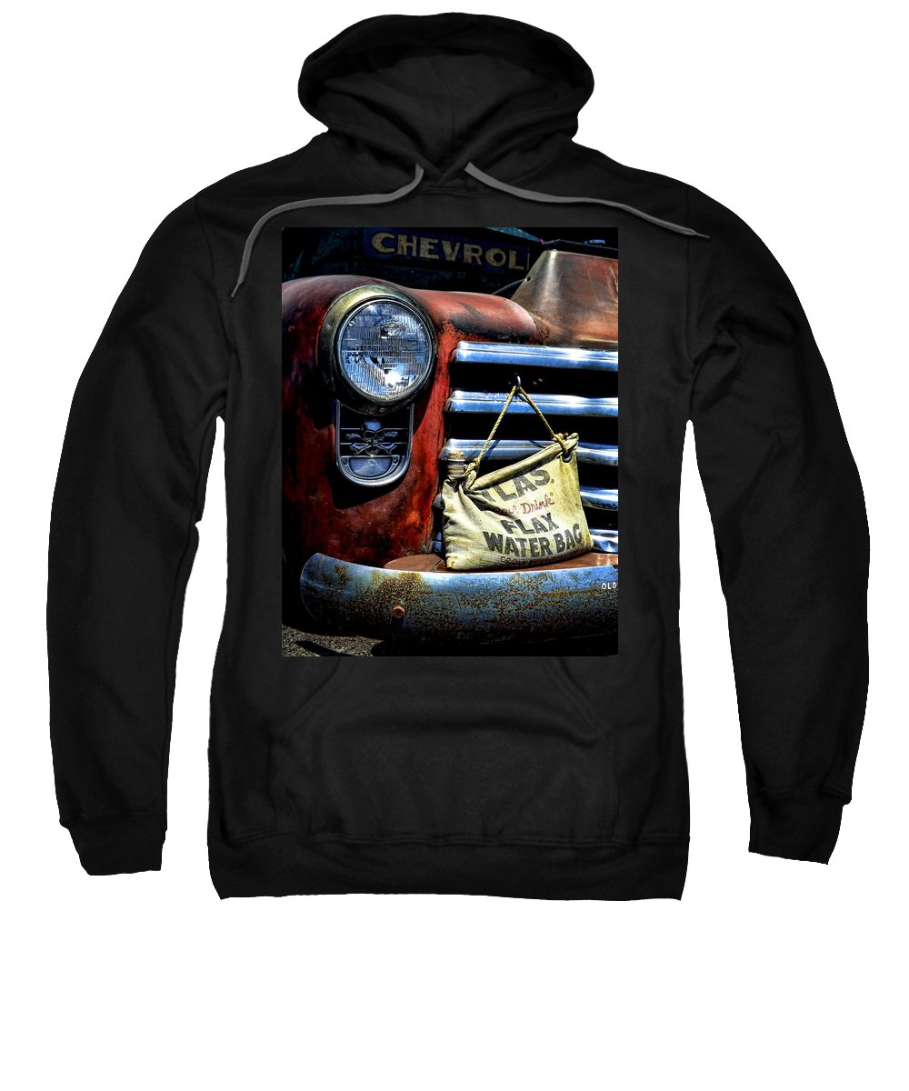 Old Chevy Truck Sweatshirt featuring the photograph This Ol' Chevy by Kristie Bonnewell