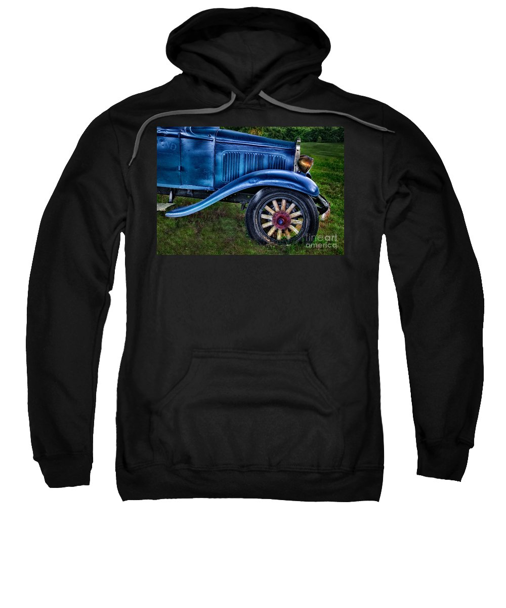 Old Sweatshirt featuring the photograph This Old Car by Susan Candelario