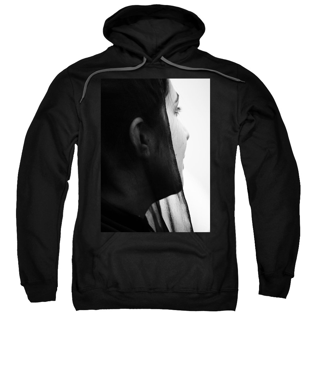 Portraits Sweatshirt featuring the photograph Through Broken Glass by The Artist Project