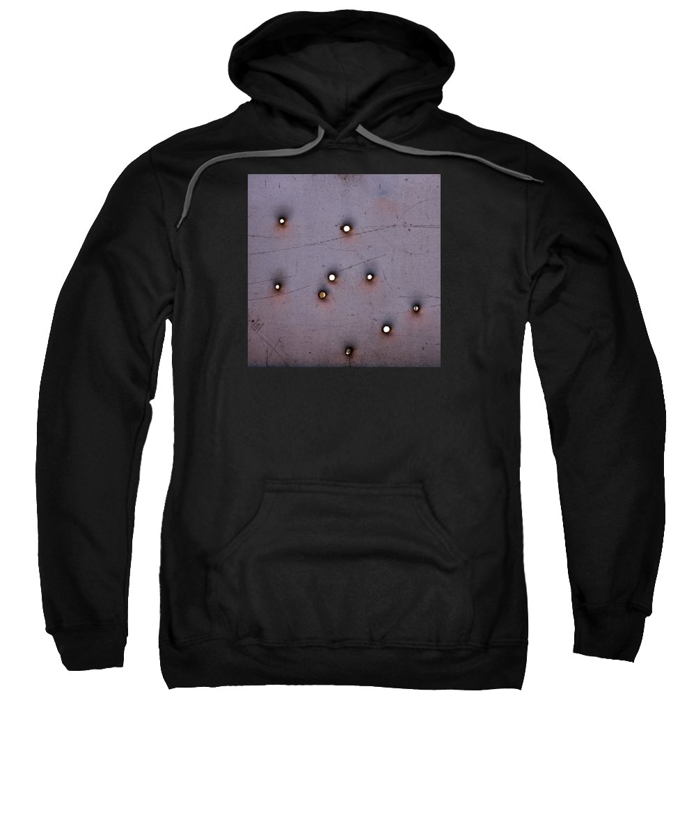 Bullet Sweatshirt featuring the photograph Through The Bullet Holes by Art Block Collections