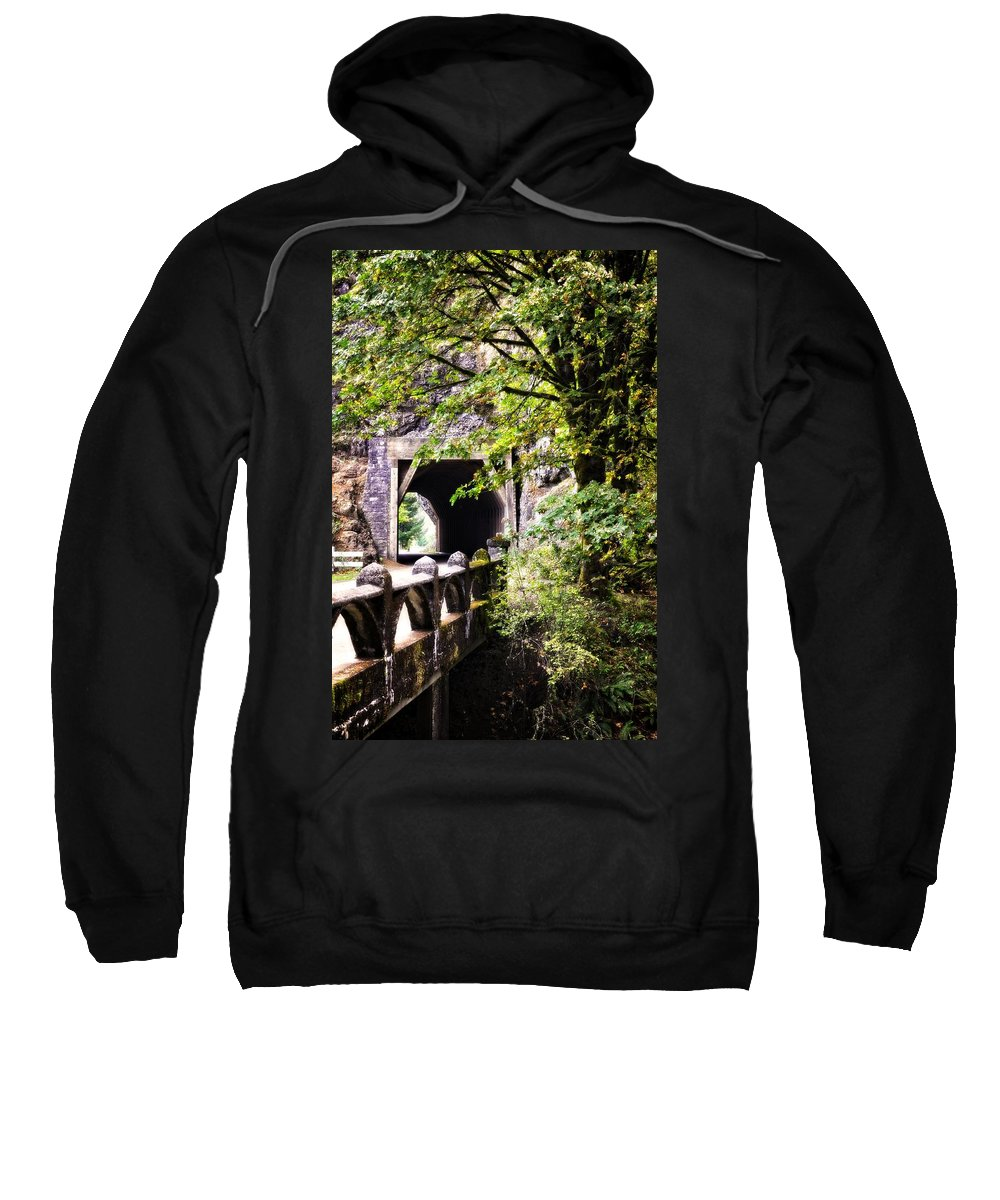 Multnomah Scenic Route Sweatshirt featuring the photograph Through The Tunnel by Image Takers Photography LLC - Laura Morgan