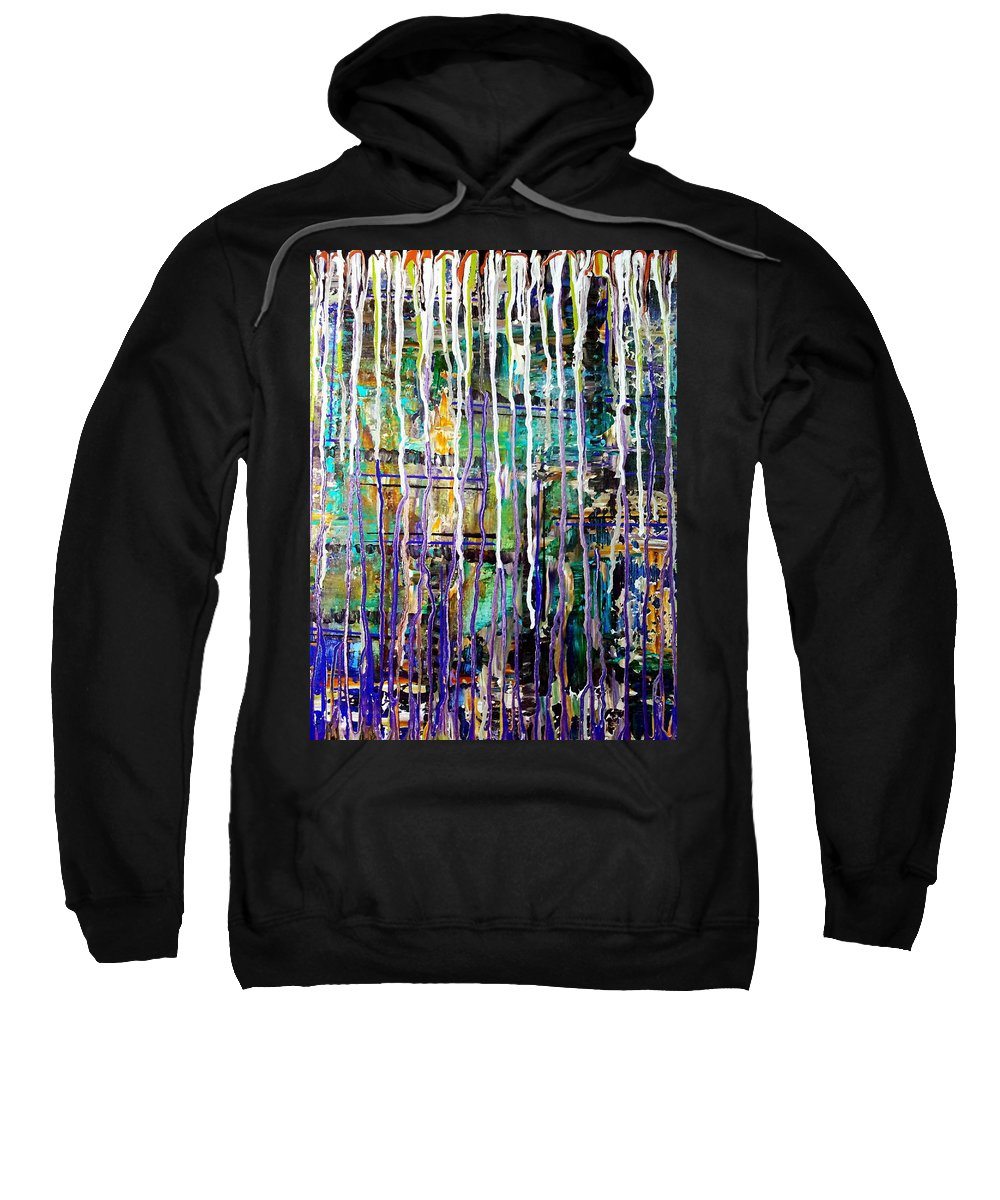Rain Sweatshirt featuring the painting Thru The Storm 2 Digital Series by Tina Vaughn