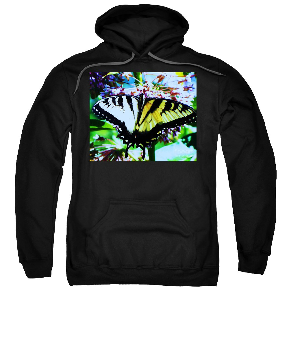Butterfly Sweatshirt featuring the photograph Tiger Swallowtail Butterfly by Eric Schiabor