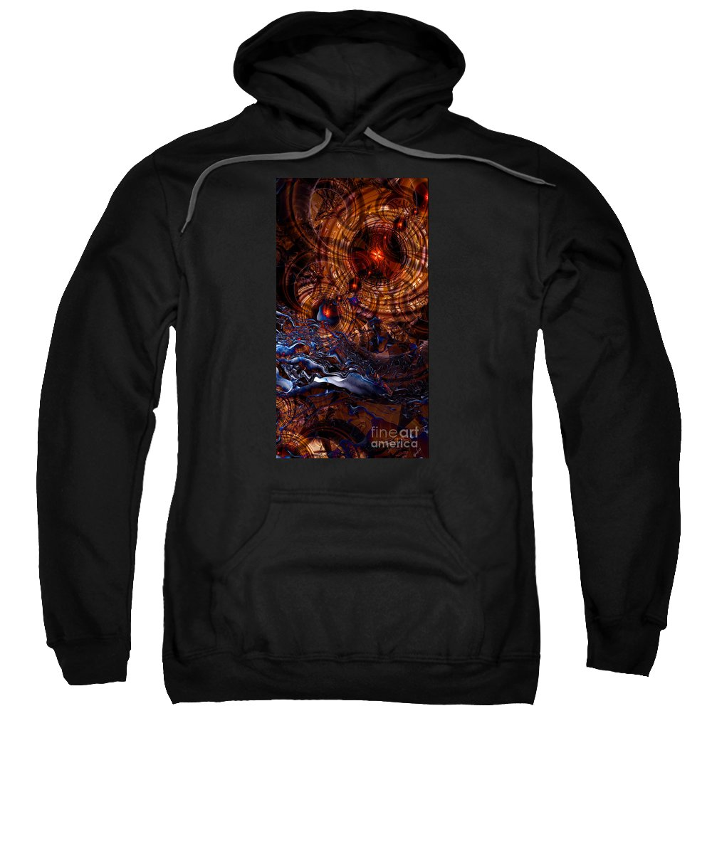 Time After Time Sweatshirt featuring the digital art Time After Time by Kimberly Hansen