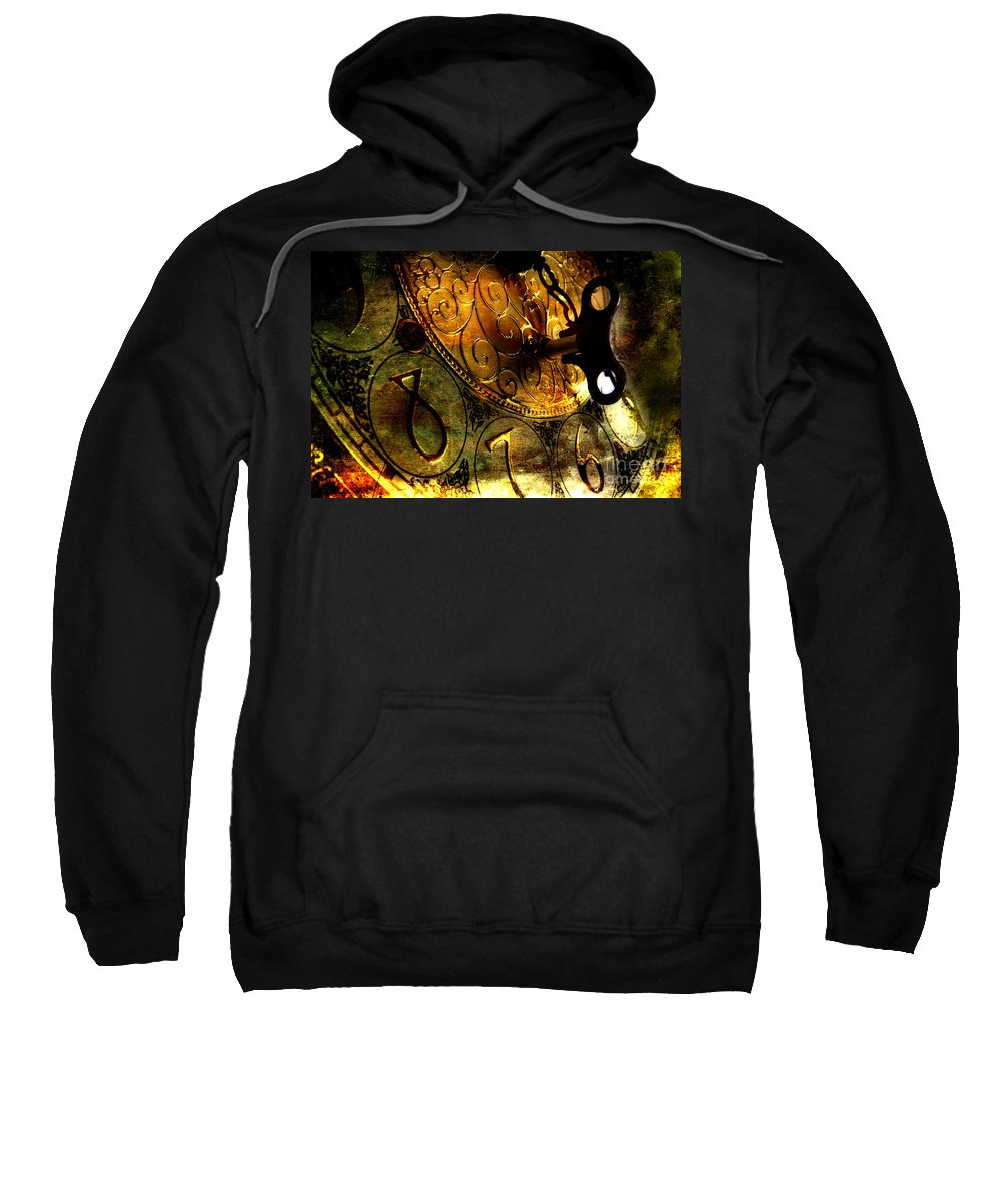 Clock Sweatshirt featuring the photograph Time Secrets by Michael Eingle