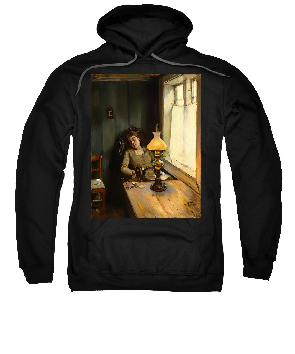 Painting Sweatshirt featuring the painting Tired by Mountain Dreams