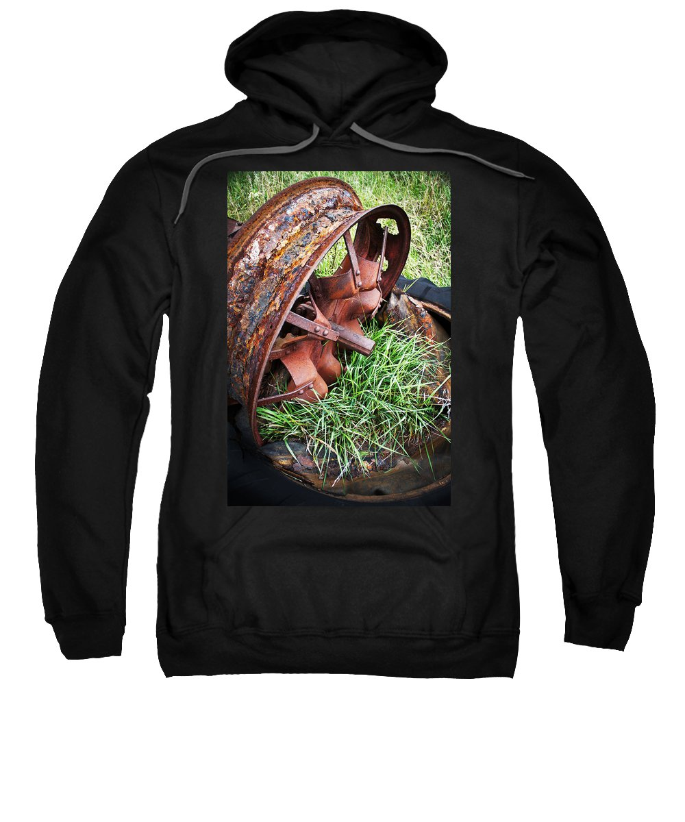 Tractor Sweatshirt featuring the photograph Ferrous Wheel by Guy Shultz