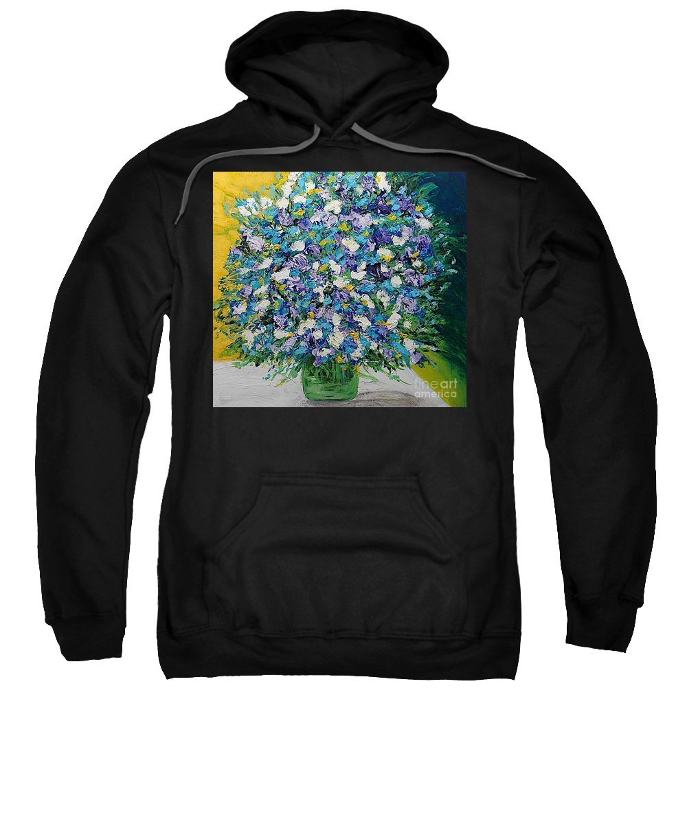 Landscape Sweatshirt featuring the painting To Have And Delight by Allan P Friedlander