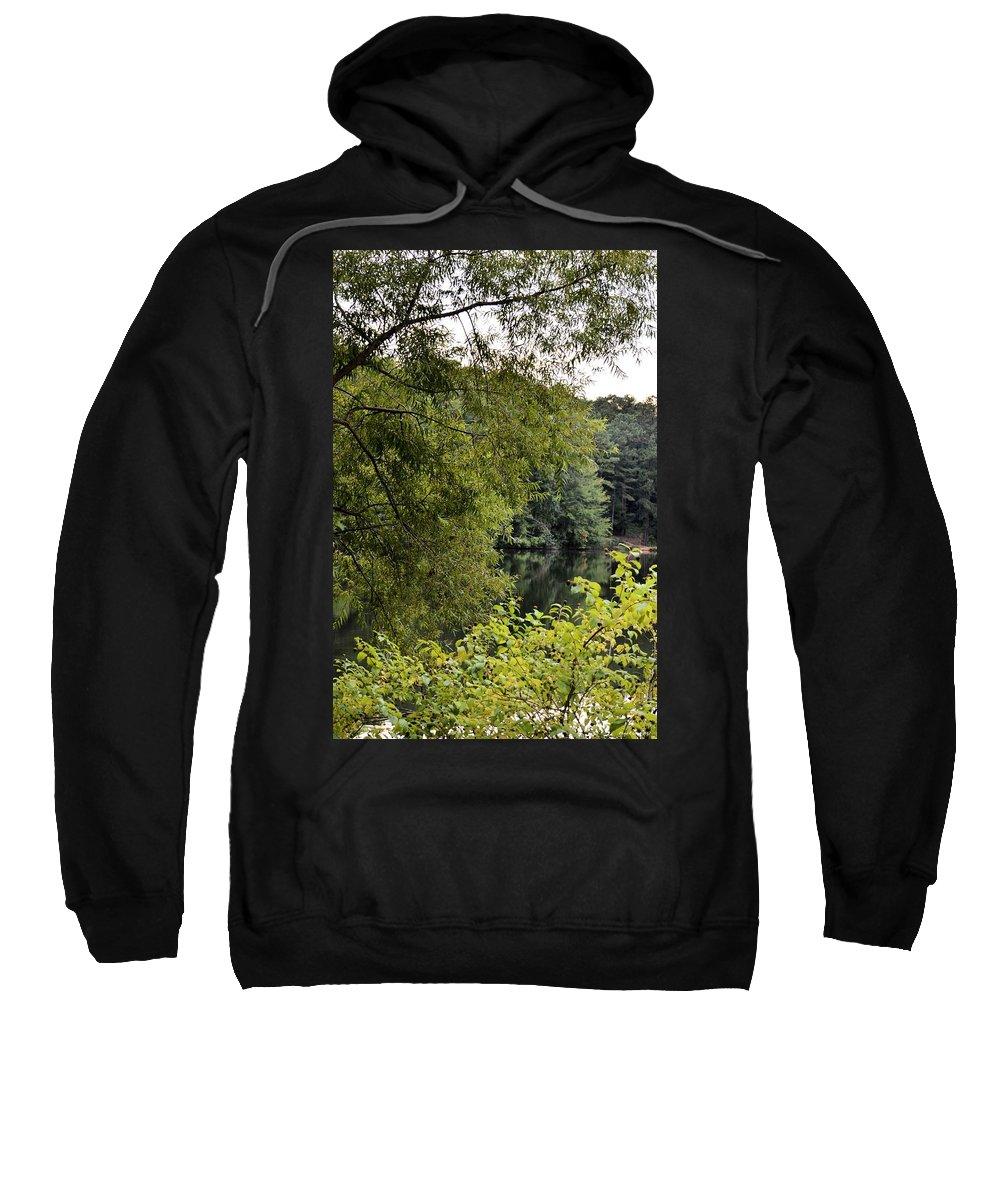 To Walk Beside Still Waters Sweatshirt featuring the photograph To Walk Beside Still Waters by Maria Urso