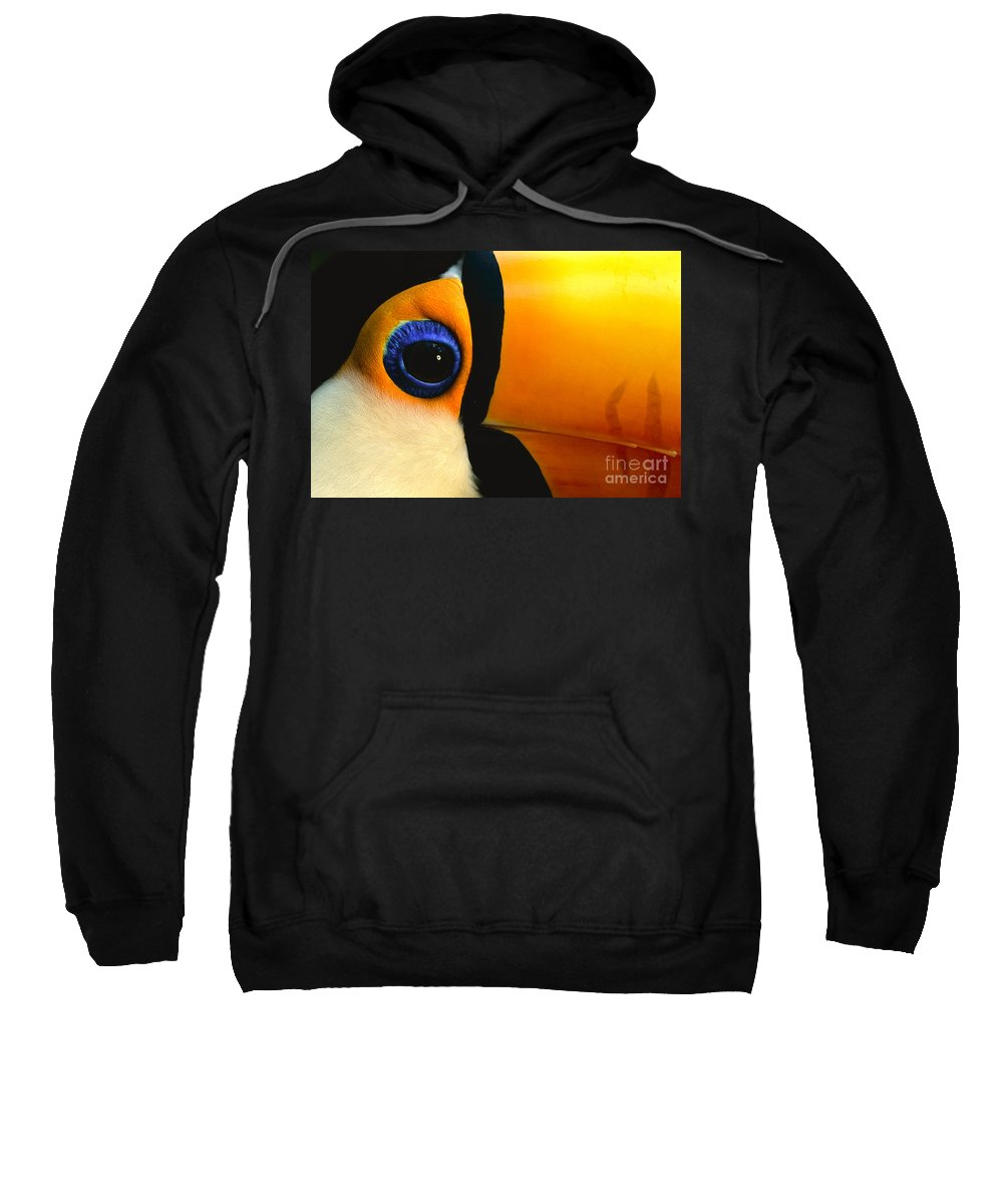 Animal Behavior Sweatshirt featuring the photograph Toco Toucan Face by Frans Lanting MINT Images