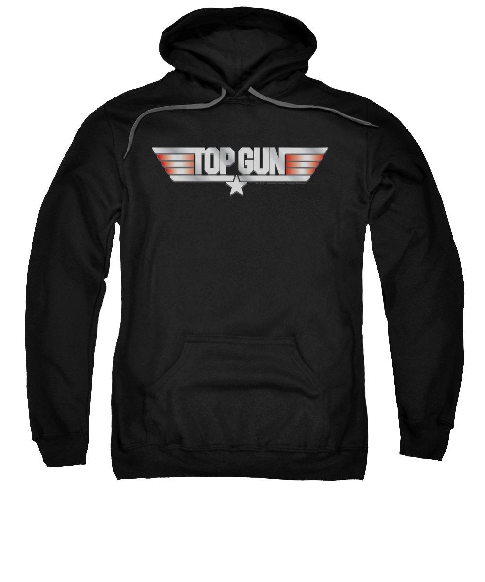 Top Gun Sweatshirt featuring the digital art Top Gun - Logo by Brand A