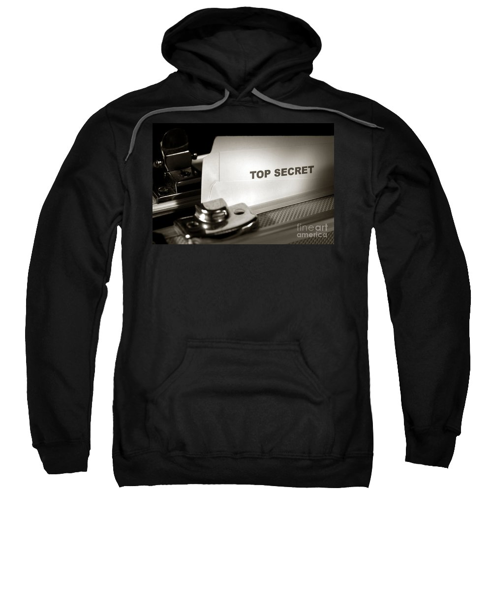 Top Secret Sweatshirt featuring the photograph Top Secret Document In Armored Briefcase by Olivier Le Queinec